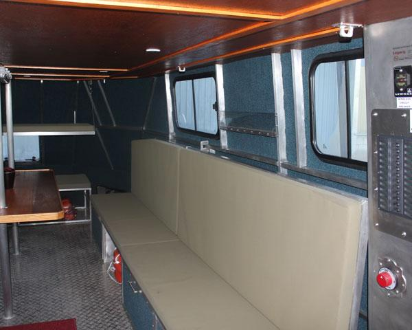 14.5m Research Workboat internal seating